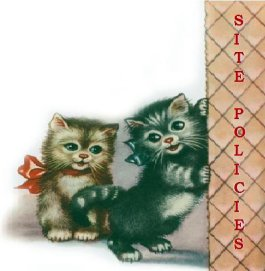 Vintage Kittens With Book